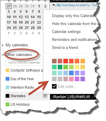 Change Google Calendar Background Colors