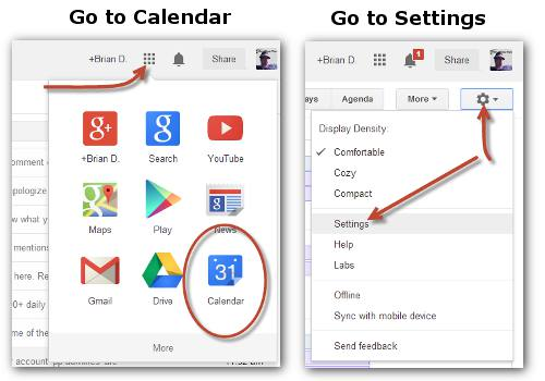 Go to Calendar settings