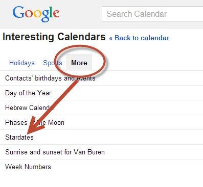 Interesting Calendars - Stardates