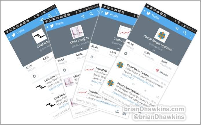 Fake Twitter Follower Screenshots