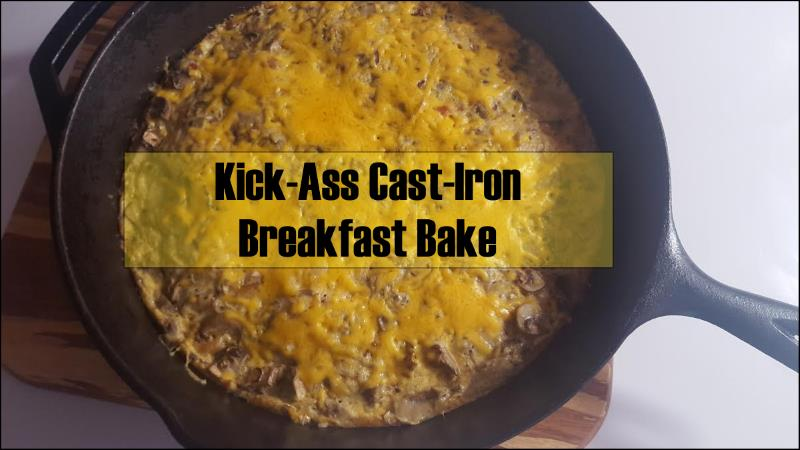 Low Carb And Delicious Cast Iron Breakfast Bake